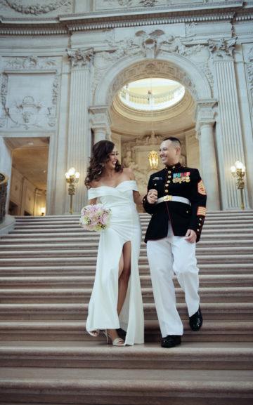 us navy veteran at sf city hall 2- wedding